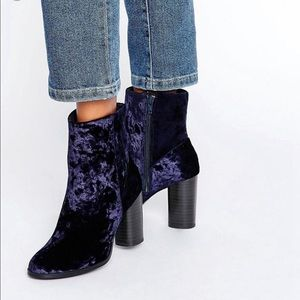 ASOS Shoes - New Look by ASOS velvet high ankle boots size 8